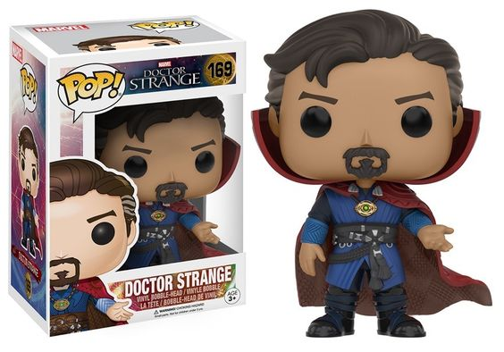"""Doctor Strange Pop!s: Just in time for Marvel's upcoming blockbuster """"Doctor Strange"""", the mystical magician and Sorcerer Supreme – Stephen Strange himself - is ready to join your collection of Pop! Marvel vinyl from the Marvel Cinematic Universe! Doctor Strange will be available in three different poses: heroic, without his cape in spellcasting pose (exclusive to Walmart), and in astral projection form (exclusively at Target). Karl Mordo, Kaecilius, and the Ancient One are also coming…"""