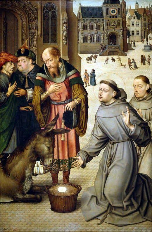 Milagro de San Antonio de Padua, de maestro anónimo, en el Museo del Prado