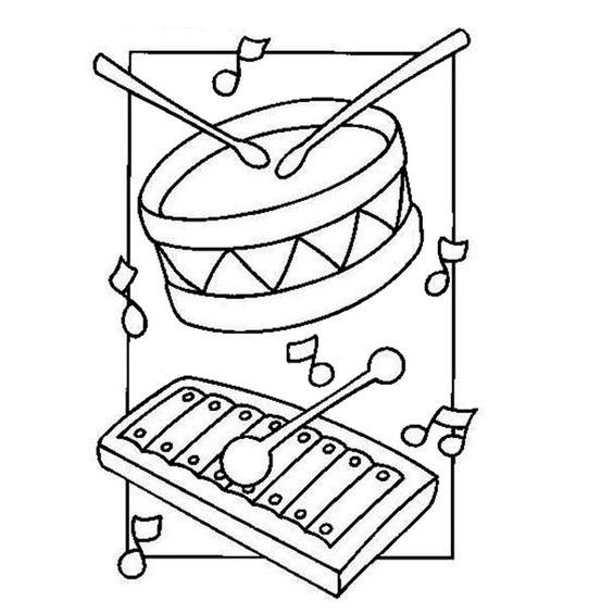 coloriage instruments de musique les instruments. Black Bedroom Furniture Sets. Home Design Ideas