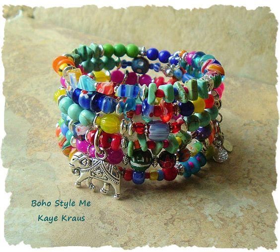Bracelet bohémien coloré Boho mode Bracelet Bohème par BohoStyleMe