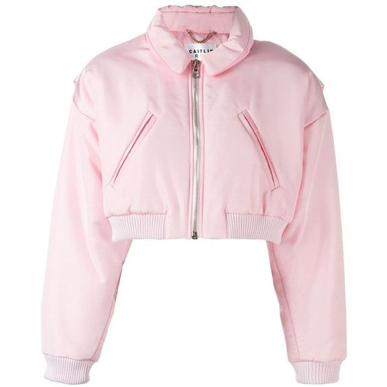 Caitlin Price Cropped Bomber Jacket ($1111) ❤ liked on Polyvore
