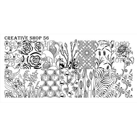 Creative Shop- Stamping Plate- 56
