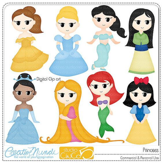 Buy 2 get 1 FREE - Princess Cliparts - Digital Clip Art ...