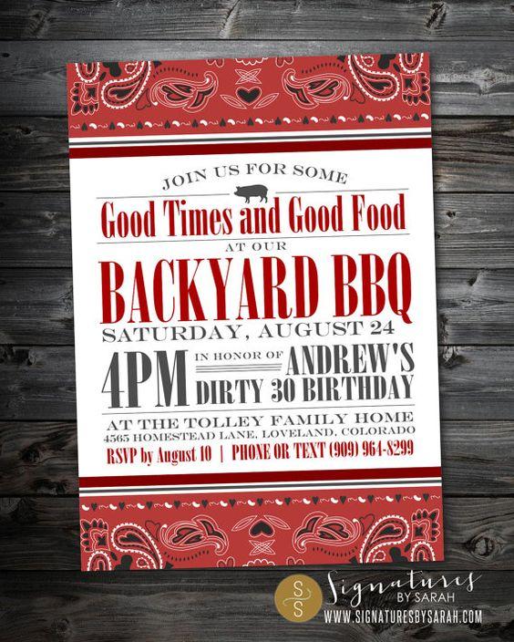 Printable+BBQ+backyard+birthday+party+invite+++by+SignaturesbyS,+$24.50