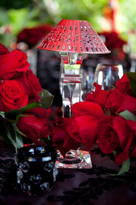 Event Production: It! Weddings & Events. Rentals via TentLogix, Atlas Party Rental, Ronen Rental and Lavish Events; Florals and Linens by Tom Mathieu & Co.; Catering by Christafaro's Catering; Stationery via Stationer On Sunrise. Red roses. Amazing red tent. romantic feeling. waterfront event. It! Weddings & Events. baroque linen. Black and White. Event . sexy . birthday party ideas. sexy tent.
