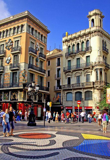 Las Ramblas - Barcelona Miró mozaik (Catalunya - Catalonia)