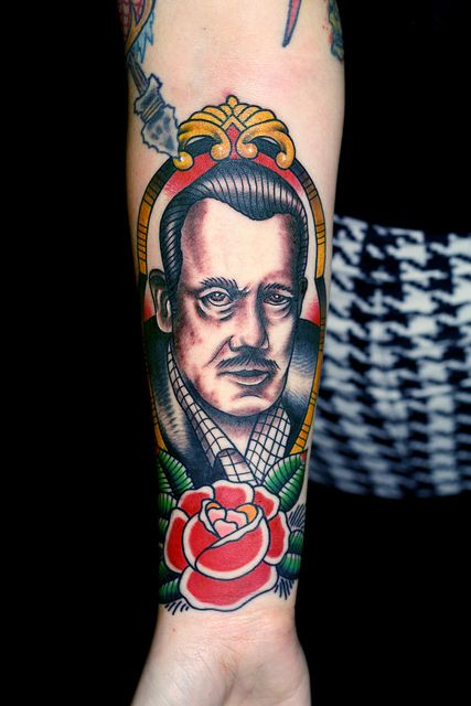 John Steinbeck tattoo myke chambers #TATTS  #TATTOOS - I need to find this person and become best friends with them.