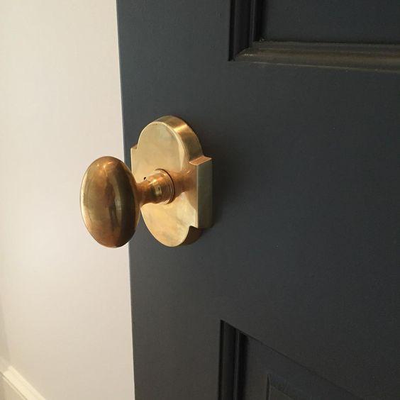 Unlacquered brass door knob - Brandino Brass: