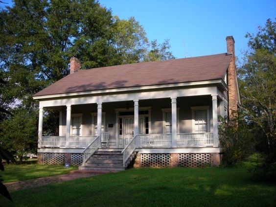 Creole cottage cottages and dollhouses on pinterest for Creole house plans