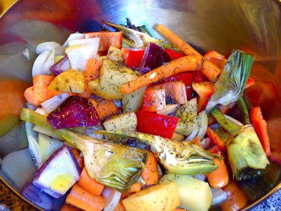 Les receptes que m'agraden: Verduras al horno, receta light - Verdures al forn, recepta light