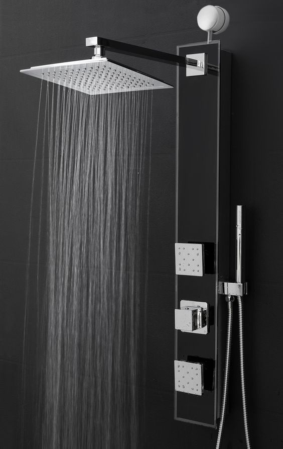 Features Shower Panel System Comes With A Easy Connect Adapter Rainfall Shower Heads Handheld Shower Head With Images Bathroom Shower Panels Shower Panels Shower Heads