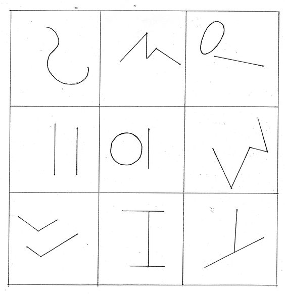 great for subs...turn each square into a picture?  I remember Tom Hatten used to do this on TV in between showing Popeye cartoons in the 50's... He called them squiggles.