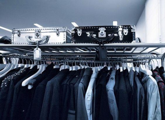 Karl Lagerfeld's ultra-modern Paris apartment - wardrobe