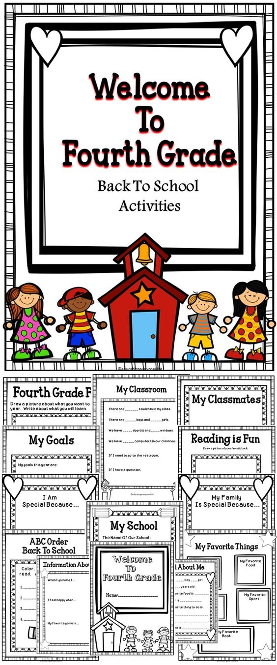 School Worksheets For 4th Graders : Activities for third grade students back to school