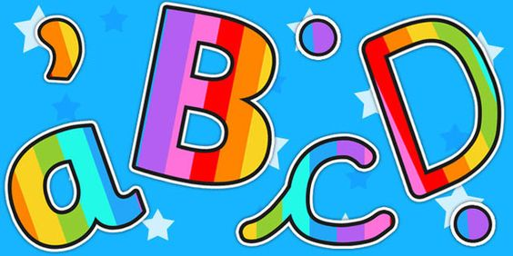 Multi-coloured Stripe Themed Display Lettering
