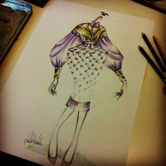 Fashion sketch by Rubén Galarreta. www.rubengalarreta.com