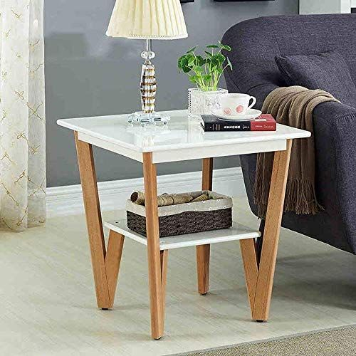 Wisdom Shelving Storage Side Table With Storage Living Room Wood