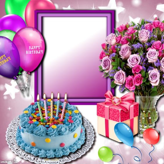 Happy Birthday Cake Frames Online