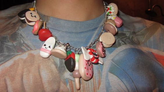 Kawaii Sweets Statement Necklace by raiznbran on Etsy, $22.00