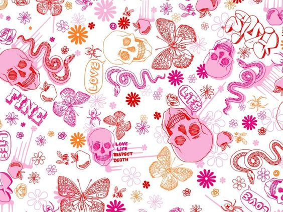 Wallpapers for desktop pink skull and pattern wallpaper - Hd girly wallpapers for laptop ...
