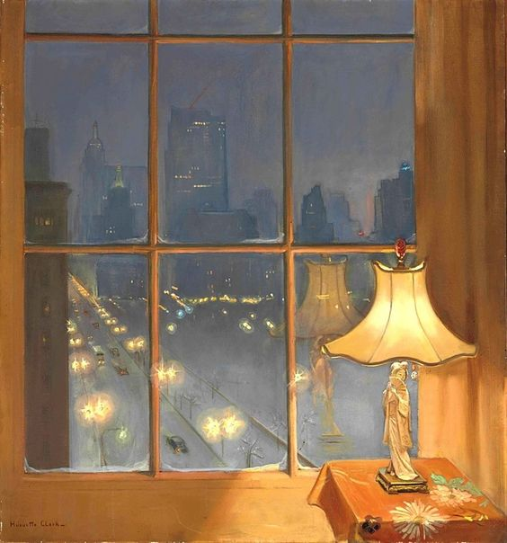 Huguette Clark (1906-2011) Scene from My Window — Night