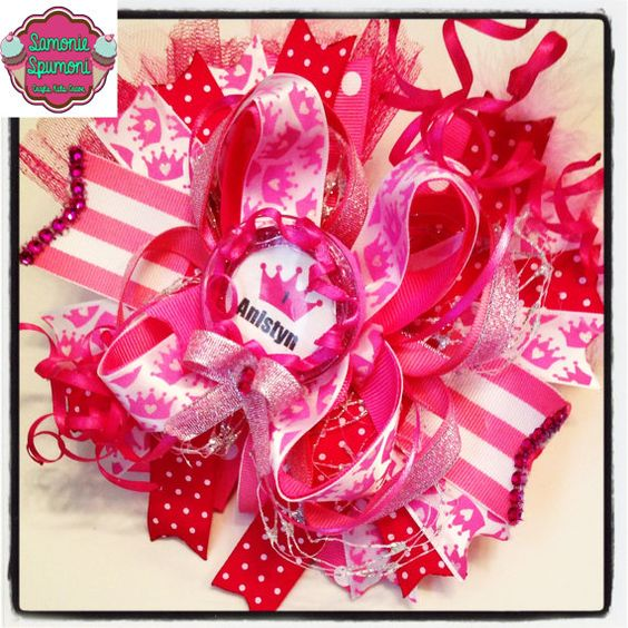 Ott Pink Princess Bow princess bow pink bow over the top bow bows princess