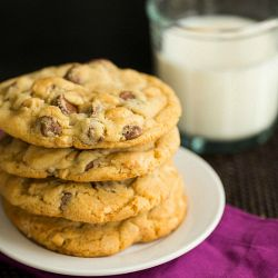 Sea Salt, Cashew and Milk Chocolate Chip Cookies | Brown Eyed Baker