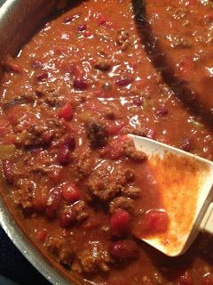 Fifteen Minute Beef and Bean Chili - Seriously...Fifteen minutes!  Perfect for topping hot dogs or Chili Cheese Fries....or just in a bowl topped with cheese....