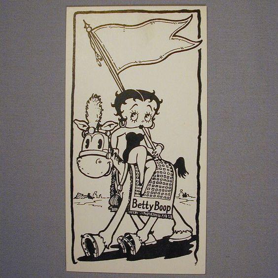 Orig. 1920s Fleischer Studios Betty Boop Fan Club Card