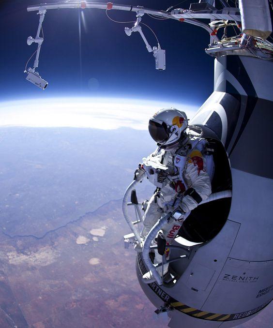 Preparando un salto desde la estratósfera