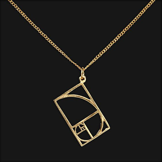 The math nerd in me is totally into this Golden Ratio pendant.