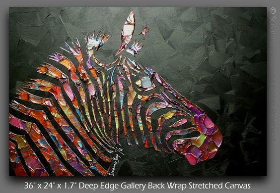 Abstracto pintura cebra textura ORIGINAL moderno por ModernHouseArt