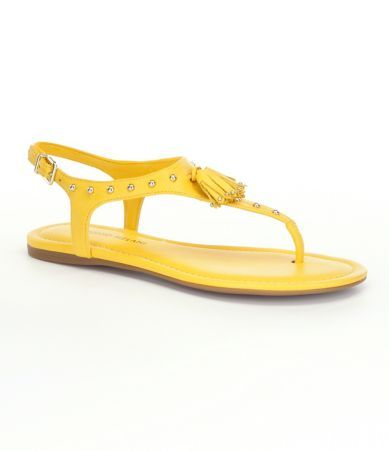 Dillard's yellow sandals - http://www.dillards.com/p/Antonio-Melani-Willah-Tassel-Sandals/505088304