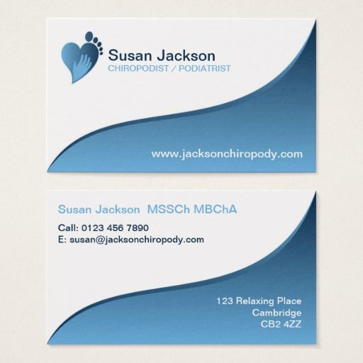 Chiropodist Business Card Zazzle Com Business Cards Cards Quality Cards
