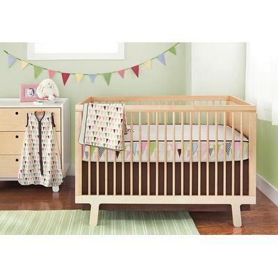 Skip Hop Pretty Pennant Bumper Free 4 Pieces Crib Bedding Set