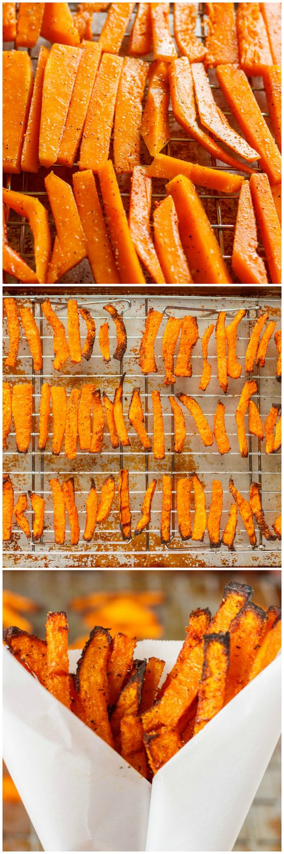 Butternut Squash Fries - so easy, with just olive oil and spices. Feel free to switch the spices up (try chipotle powder in place of paprika for D-Burn).