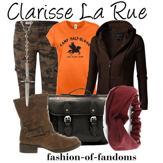 Outfit inspired by Clarisse from Rick Riordan's Percy Jackson and the Olympians series