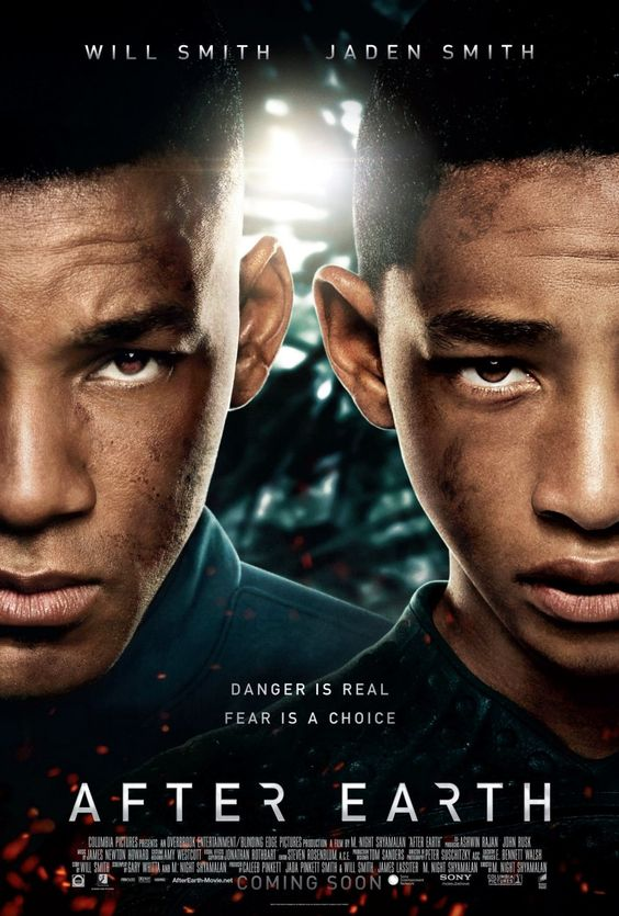 After Earth- Lindsey saw this movie today. The story of the movie was written by Will Smith. His wife was one of the producers, as well. It's a very good movie!