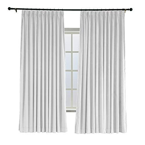 Twopages 52 W X 84 L Pinch Pleated Curtains Room Darkening Velvet Curtain Drapery Panel For Traverse Rod Or Track Curtains Velvet Curtains Pinch Pleat Curtains
