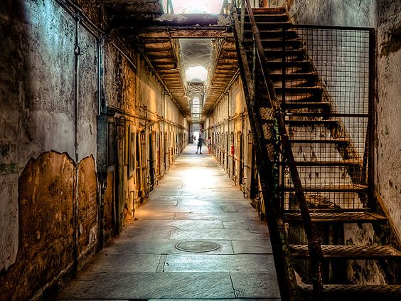 """The Scariest Places in America   EASTERN STATE PENITENTIARY, PHILADELPHIA   This now-defunct prison which dates to 1829, lists two options for visitors: traditional daytime tours or an evening haunted house experience, Terror Behind Walls, which allows guests to participate in the shenanigans — if they dare. """"Those who opt in … may be grabbed, held back, sent into hidden passageways, removed from their group, and even occasionally incorporated into the show,"""" the site says."""