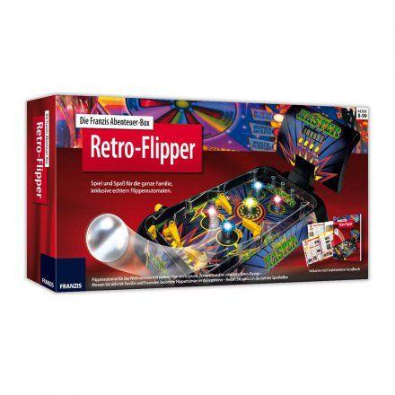 Abenteuer-Box Retro-Flipper von Franzis jetzt im design3000.de Shop kaufen! Machen Sie eine Reise zurück in die Zeit, als Flipperautomaten und...