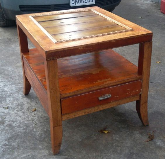 Reclaimed End Table $75