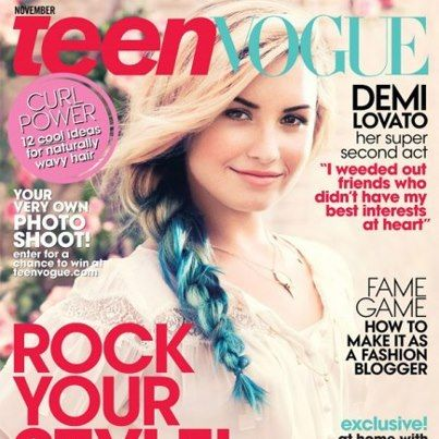 Exciting new hair colors and braids featured on the cover of Teen Vogue