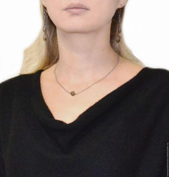 Купить Серьги Арбузный турмалин в черном серебре (серебро 925) - серьги черное серебро