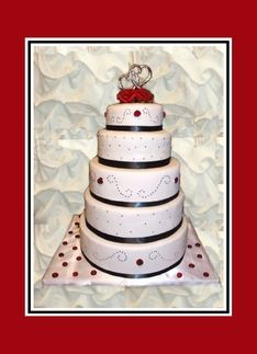 Wedding Invitation-Wedding Cake-Flowers-Heart Greeting Card