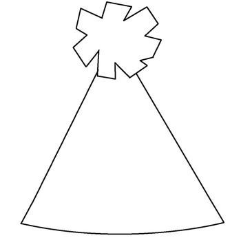 Pin By Sue Johnson On Preschool New Year Art Party Hat Template