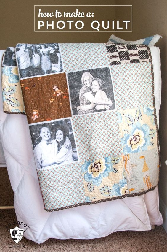 How to make a simple photo memory quilt: