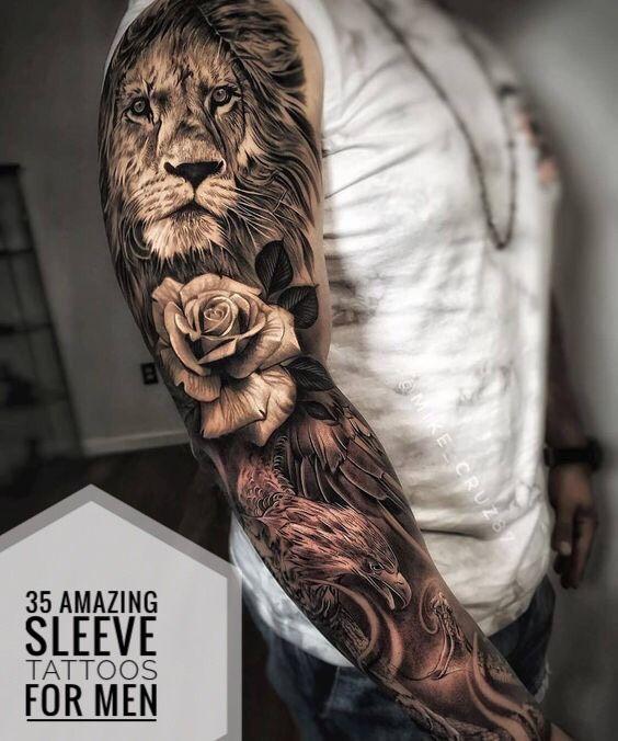 35 Amazing Sleeve Tattoos For Men Best Sleeve Tattoos Tiger Tattoo Sleeve Lion Tattoo Sleeves