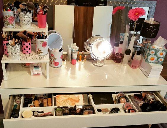 my palace cosmetics fashionable mac tisch schminke schminktisch malm ikea kosmetik. Black Bedroom Furniture Sets. Home Design Ideas