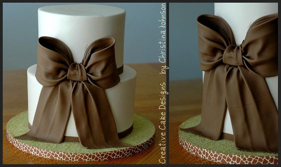 Bow Cake. =) by Creative Cake Designs (Christina), via Flickr
